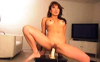 Comely Asian Little one Rides A Dildo Mainly A Webcam DM720