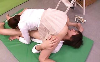 Alluring buxomy Japanese mama Hina Akiyoshi featuring hot cosplay sexual intercourse movie