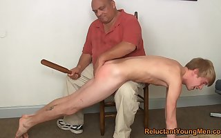 Twink gets spanked together with bore fucked wits his stance pop