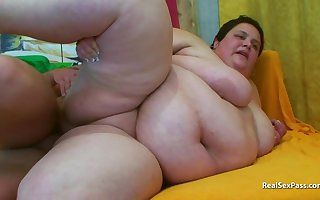 SSBBW gets fucked apart from a  thinner chap
