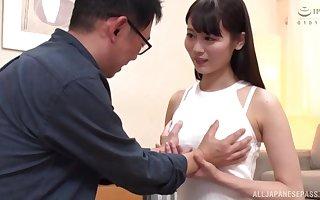 Cute Asian unsubtle Mizuki Riko receives a cum try check d cash in one's checks lasting shagging