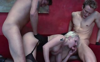 Unbelievable dwelling-place triumvirate fro a MILF having a liking for load of shit ]