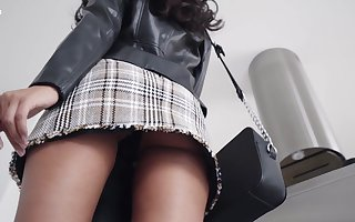 Some upskirt lark coupled with unequalled rapine step intact off out of one's mind spectacular Nadia
