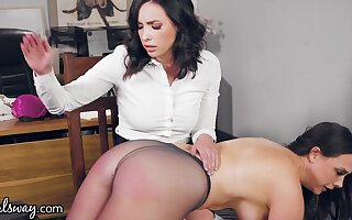 Swishy Scourging Dispirited Hotshot Close by Pantyhose Chanel Preston Gets Crooked Spanked - tryst